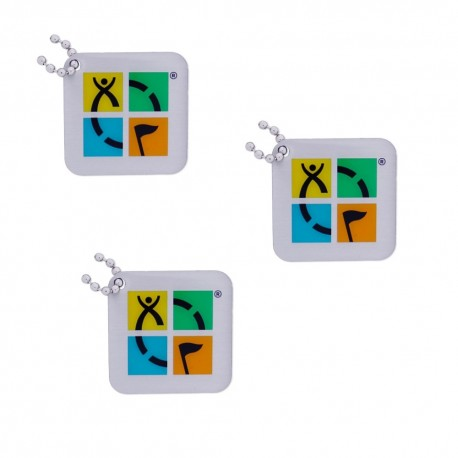 "Geocaching Logo Travel Tag ""Four Color"" - Lot de 3"
