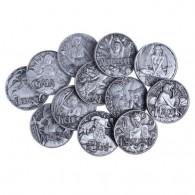 Special Edition : Greek Gods Series Geocoin Set - Antique Silver