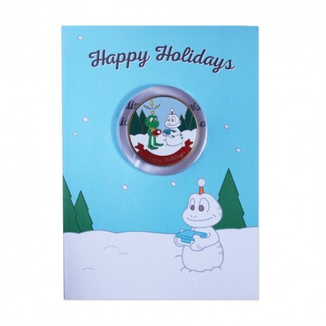 Holiday Greeting Card with Geocoin