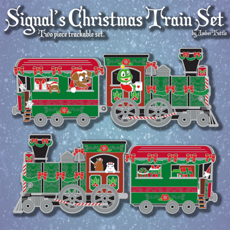 Signal's Christmas Train Geocoin Set