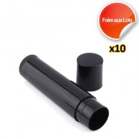 Micro Tube Container Noir - Lot de 10