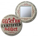 Geocoin Addict - Satin Nickel