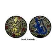 Géocoin Gecko - Bleu & Lumineux