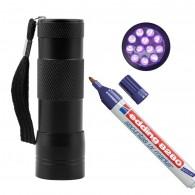 Pack UV - Marqueur + Lampe 12 LED