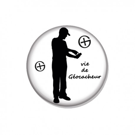 """Badge VDG """"Vie de géocacheur"""""""