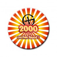 Badge - 2000 caches found !