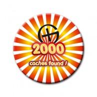 Badge - 2000 caches found !