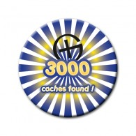 Badge - 3000 caches found !