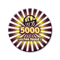 Badge - 5000 caches found !