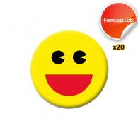 Badge Smiley Found it - Lot de 20