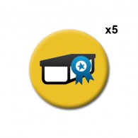"Badge ""Favorite Cache"" X5"