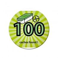 Badge - 100 caches found !