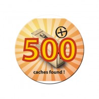 Badge - 500 caches found !