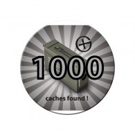 Badge - 1000 caches found !