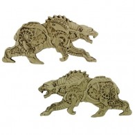 Steampunk Predators Geocoin - Polar Bear