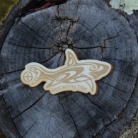 Geocaching Tribe - Wooden Shark