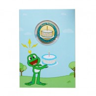 Birthday Card with Geocoin