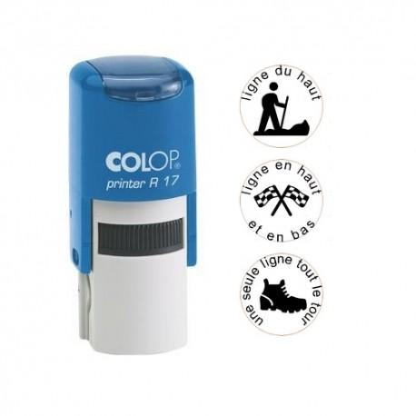 Tampon rond 17mm - Colop Printer R17 Bleu