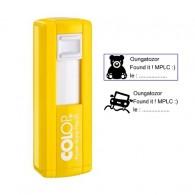 "Tampon rectangulaire 38x14mm - Colop Pocket stamp ""Plus"" 20 Jaune"