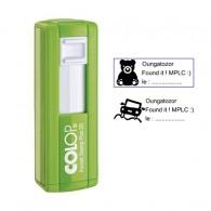 "Tampon rectangulaire 38x14mm - Colop Pocket stamp ""Plus"" 20 Vert"