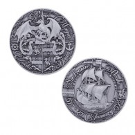 Pirate's Day Geocoin - Antique Silver