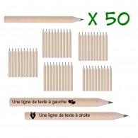 Petits crayons personnalisés - Lot de 50