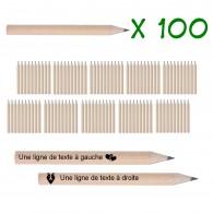 Petits crayons personnalisés - Lot de 100