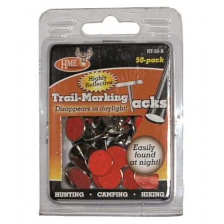 Reflective Trail Tacks - 50 marron