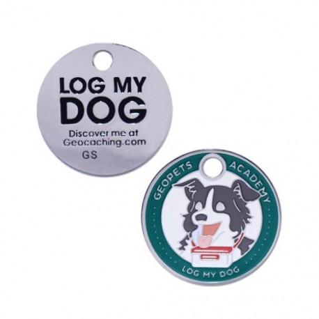 Geopets Academy - Log my Dog Travel Tag