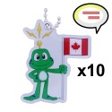 Travel Tag : Canada - Where in the World is Signal the Frog®? x10