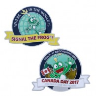 Canada Day Geocoin - Where in the world is Signal the Frog®?