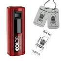 """Tampon Travel Bug® rectangulaire 38x14mm - Colop Pocket stamp """"Plus"""" 20 Ruby"""