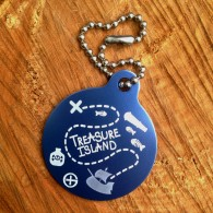 "Travel Tag ""Track the treasure"" - Island"