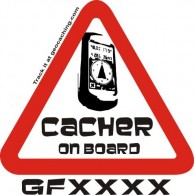 "Sticker Trackable ""Cacher on Board"""