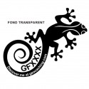Gecko Trackable - Sticker extérieur transparent