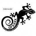 Gecko Trackable - Sticker extérieur blanc