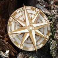 Wooden Spinner Geocoin Collection - The Compass