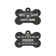 "Travel Tag - ""Woof! Track the Geodog!"" - Noir"