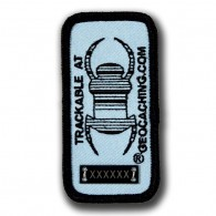 Geocaching Trackable Travel Bug® Patch - Blue