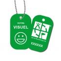 Travel Tag personnalisé - Vert