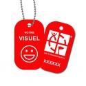 Travel Tag personnalisé - Rouge