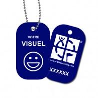 Travel Tag personnalisé - Bleu marine