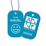 Travel Tag personnalisé - Bleu clair