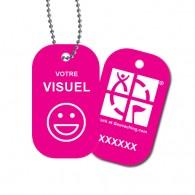 Travel Tag personnalisé - Fushia