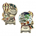 Signal the Frog® Holiday Geocoin - Antique Bronze