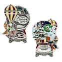 Signal the Frog® Holiday Geocoin - Antique Silver