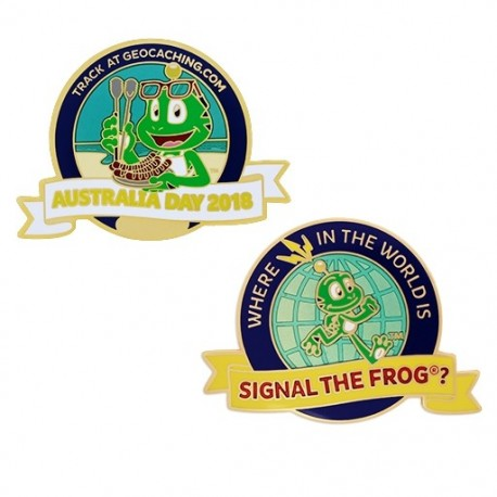 Australia Day Geocoin - Where in the world is Signal the Frog®?