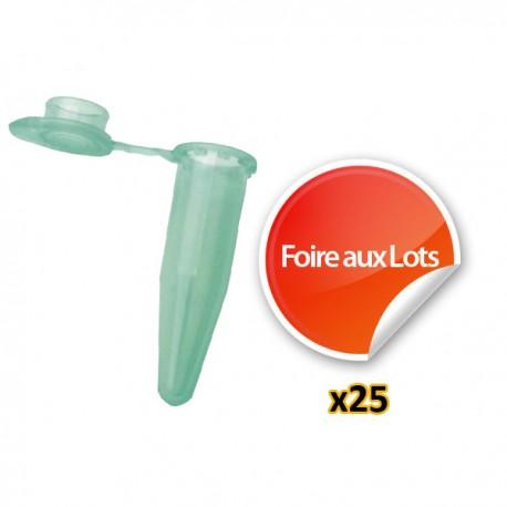 Nano Tube Vert 1,5ml - Lot de 25