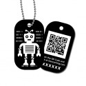 Travel Tag QRobot - Oscar