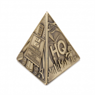 3D Trifecta Geocoin - Antique Bronze